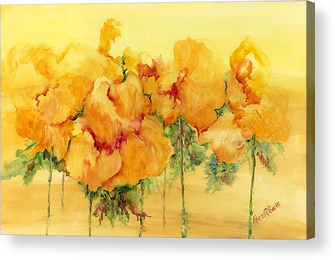 Flowers Acrylic Print featuring the painting Multiple Choice by Priscilla Powers