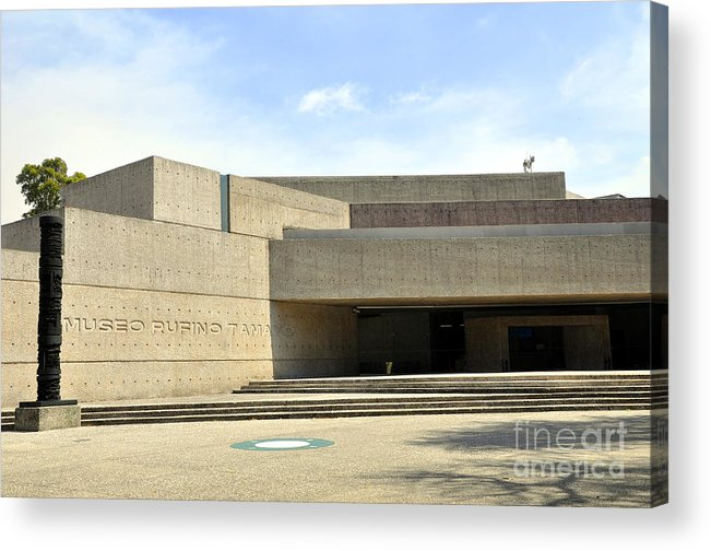 Museo Rufino Tamayo Acrylic Print featuring the photograph Museo Rufino Tamayo by Andrew Dinh