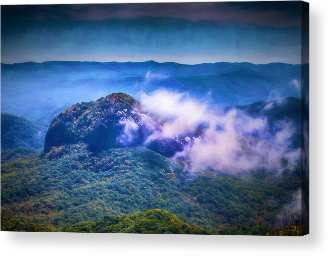 Looking Glass Rock Acrylic Print featuring the digital art Mystery Of Looking Glass Rock by John Haldane