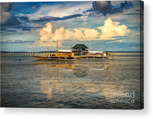 Bohol Acrylic Print featuring the photograph Nalusuan Boats by Adrian Evans