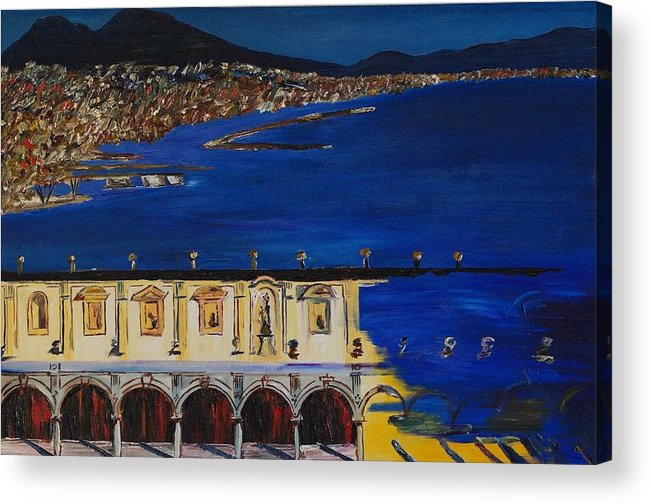 Italy Acrylic Print featuring the painting Napoli by Gregory Allen Page