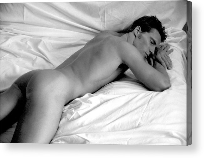Male Acrylic Print featuring the photograph Napping by Dan Nelson