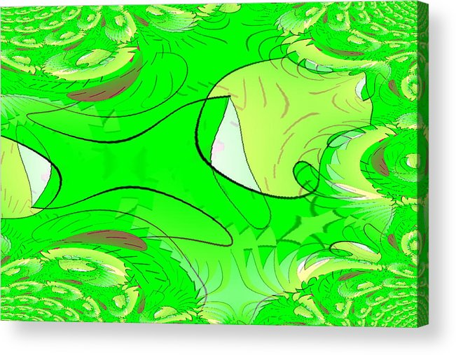 Acrylic Print featuring the digital art Nature by Andreas R Wesener