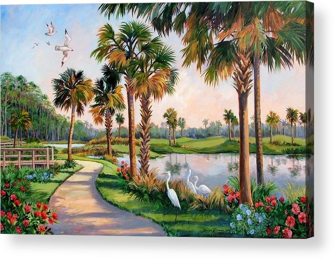Landscape Acrylic Print featuring the painting Nature Preserve by Dianna Willman