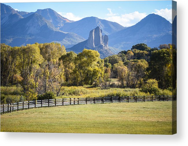 Butte Acrylic Print featuring the photograph Needle Rock by Sharon Wunder Photography