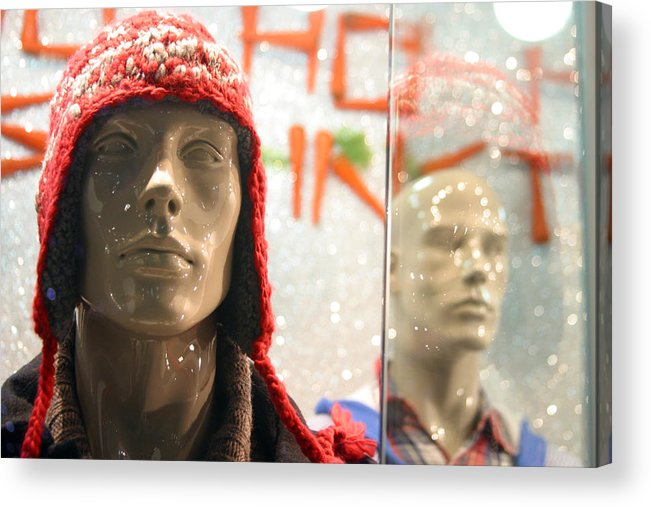 Jez C Self Acrylic Print featuring the photograph Never Wear A Hat Indoors by Jez C Self