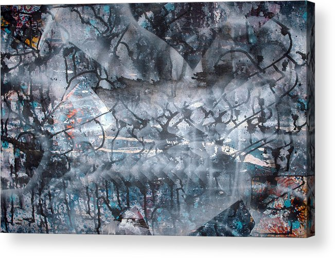 Abstract Acrylic Print featuring the painting Neverwas... by Leigh Odom