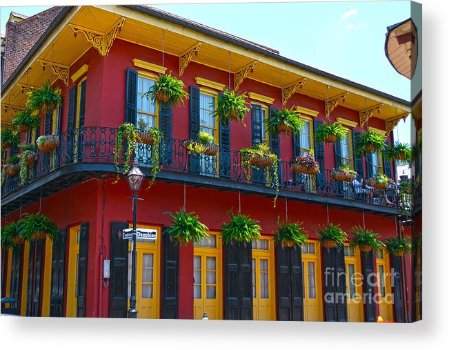 New Orleans Balcony Acrylic Print featuring the photograph New Orleans Balcony by Christine Dekkers