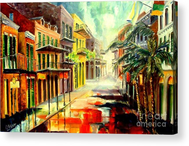 New Orleans Acrylic Print featuring the painting New Orleans Summer Rain by Diane Millsap