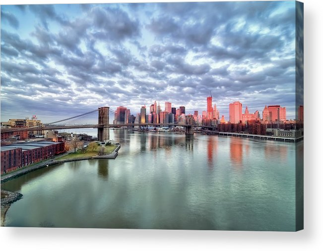 Horizontal Acrylic Print featuring the photograph New York City by Photography by Steve Kelley aka mudpig