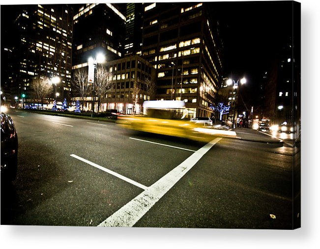 Nyc Acrylic Print featuring the photograph New York Minute by Robert J Caputo