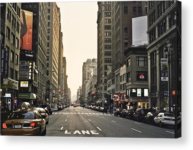 Nyc Acrylic Print featuring the photograph New York New York by Wes Shinn