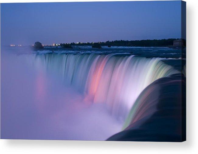 3scape Photos Acrylic Print featuring the photograph Niagara Falls At Dusk by Adam Romanowicz