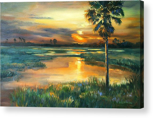 Painting Acrylic Print featuring the painting Night Descends by Dianna Willman