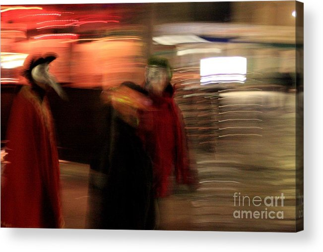 Venice Acrylic Print featuring the photograph Night During Carnevale by Michael Henderson