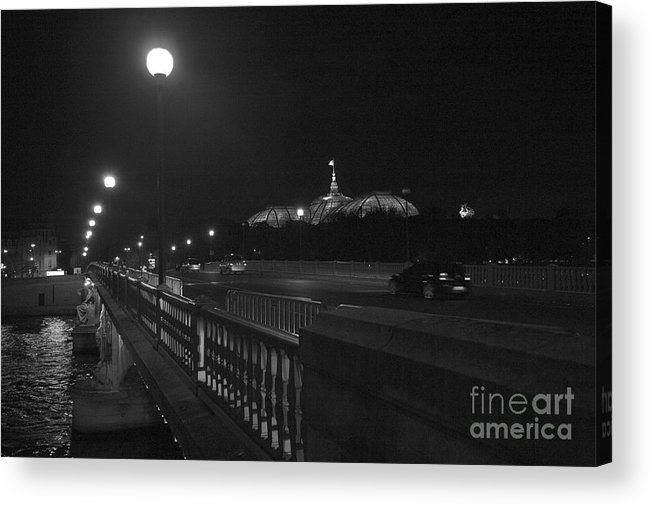 Paris Acrylic Print featuring the photograph Night Scene Paris by Chuck Kuhn