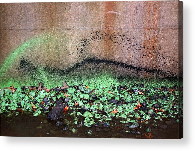 Abstract Acrylic Print featuring the photograph Nj Abstract Three by Heather S Huston