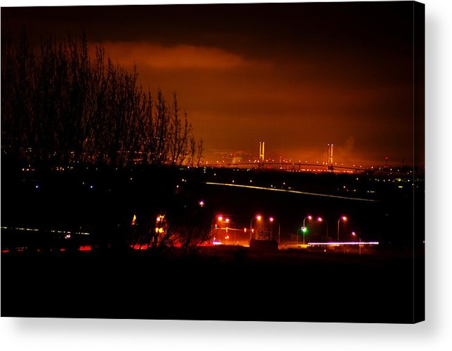 Night Acrylic Print featuring the photograph Nocturnal Highway by Paul Kloschinsky