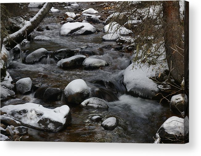 Water Acrylic Print featuring the photograph North St. Vrain Creek by Cynthia Cox Cottam