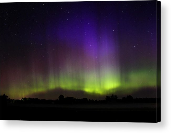 Northern Lights Acrylic Print featuring the photograph Northern Lights 5 by Brook Burling