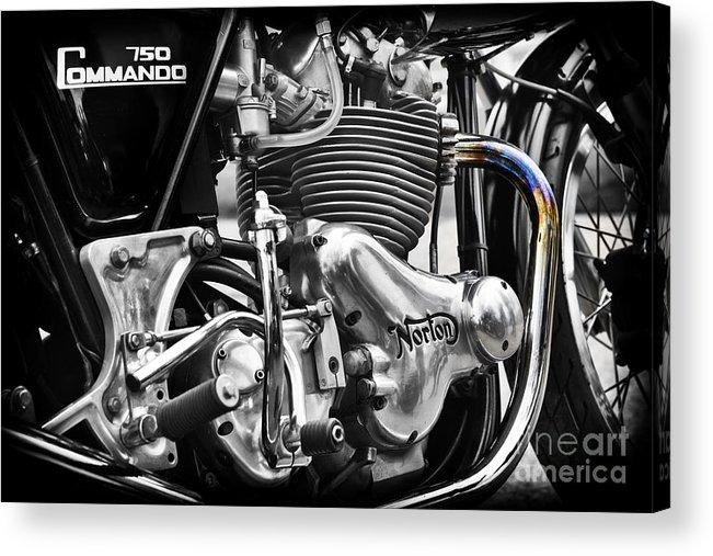 Norton Commando 750cc Cafe Racer Engine Acrylic Print