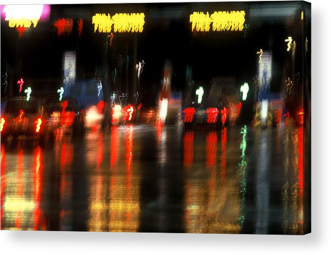 Abstract Acrylic Print featuring the photograph Nyc Toll Booth by Brad Rickerby