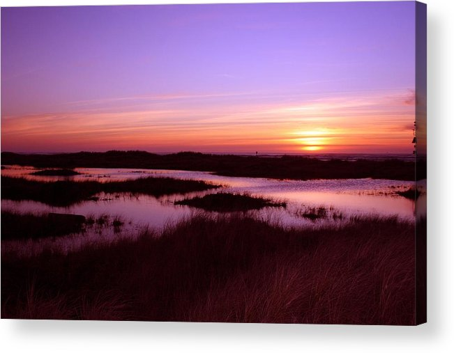 Sunsete Acrylic Print featuring the photograph Ocean Shores Sunset Ss 1003 by Mary Gaines