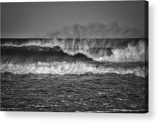 Photography Acrylic Print featuring the photograph Ocean Spray by Raven Steel Design