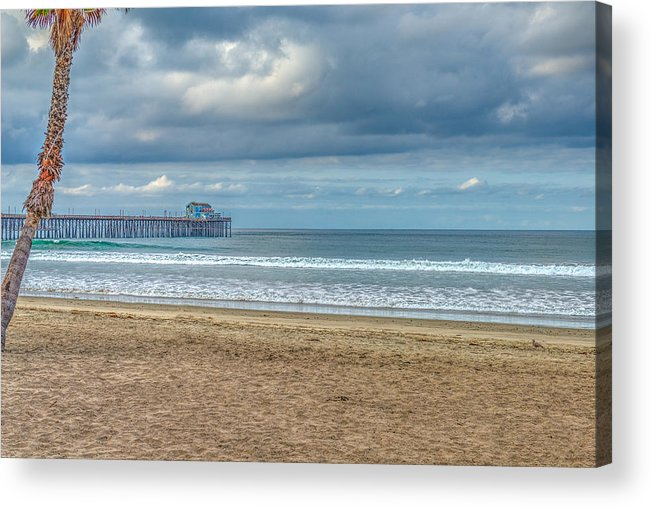 Oceanside Acrylic Print featuring the photograph Oceanside Pier by David Zanzinger