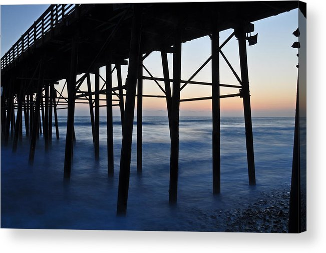 Oceanside Pier Oceanside California Beach Long Exposure Landscape Photography Canvas Colors Ocean Acrylic Print featuring the photograph Oceanside Pier by Kelly Wade
