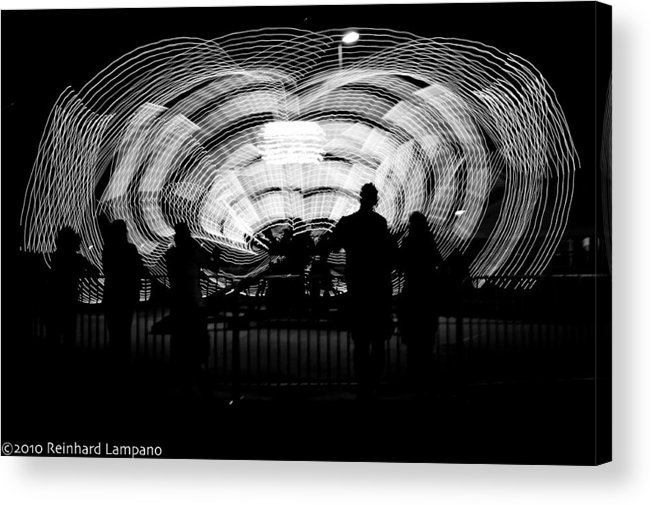 Carnival Ride Acrylic Print featuring the photograph Octopus. by Reinhard Lampano