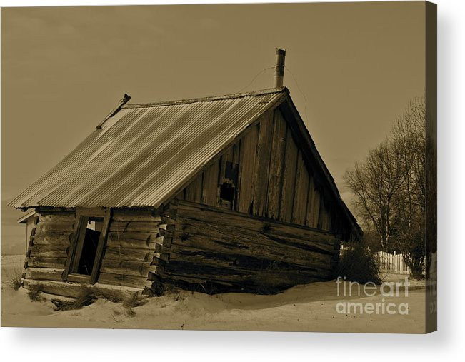 Log Home Acrylic Print featuring the photograph Old Age by Rick Monyahan