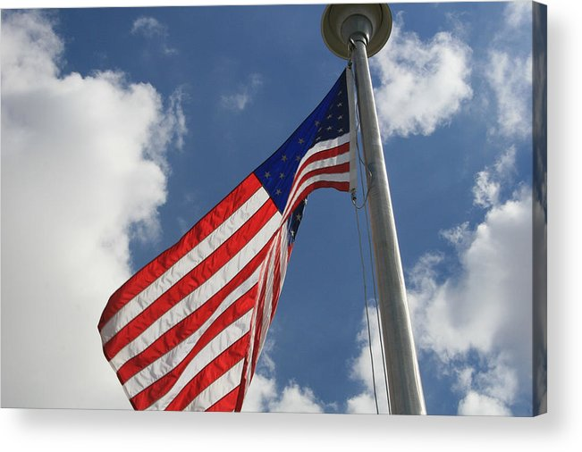 Flag Acrylic Print featuring the photograph Old Glory 1 by Bob Gardner
