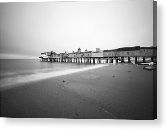 Old Orchard Beach Acrylic Print featuring the photograph Old Orchard Beach Pier by Eric Gendron