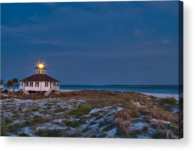 Lighthouse Acrylic Print featuring the photograph Old Port Boca Grande Lighthouse by Rich Leighton