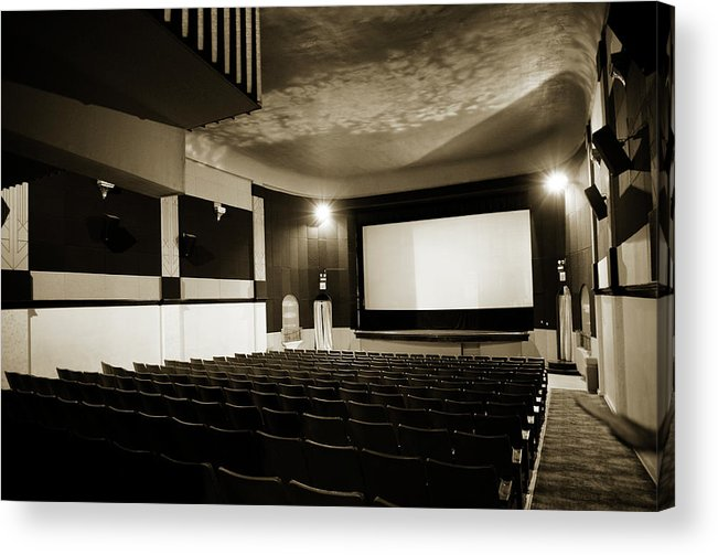 Americana Acrylic Print featuring the photograph Old Theater 2 by Marilyn Hunt