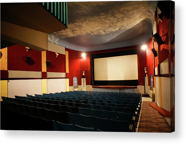 Americana Acrylic Print featuring the photograph Old Theater Interior 1 by Marilyn Hunt
