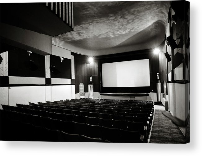 Americana Acrylic Print featuring the photograph Old Theatre 3 by Marilyn Hunt