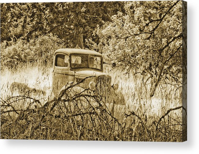 Vintage Acrylic Print featuring the photograph Old Truck by Linda McRae