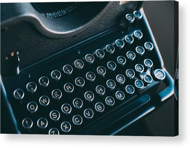 Machine Acrylic Print featuring the photograph Old Typewriter by Jose Luis Agudo