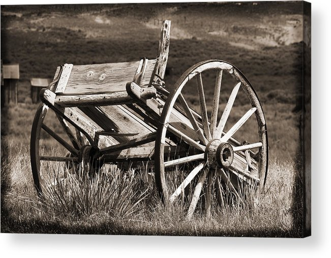 Antique Acrylic Print featuring the photograph Old Wheels 2 by Kelley King