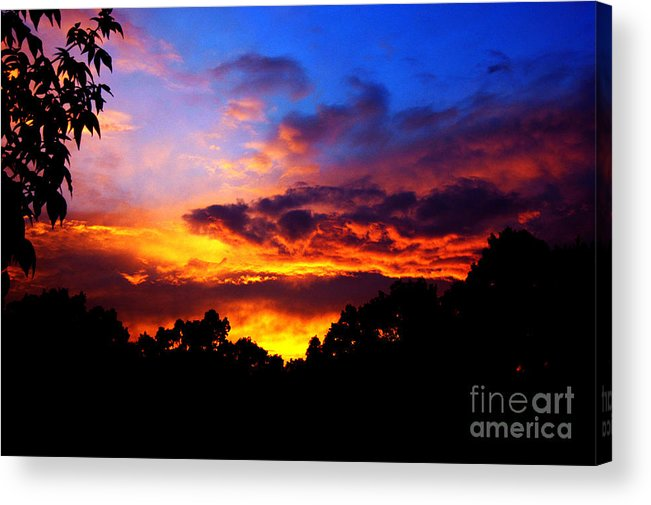Clay Acrylic Print featuring the photograph Ominous Sunset by Clayton Bruster