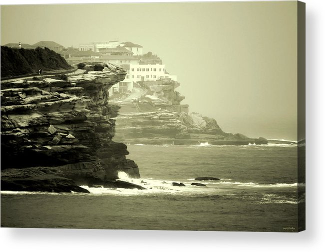 Landscapes Acrylic Print featuring the photograph On The Rugged Cliffs by Holly Kempe