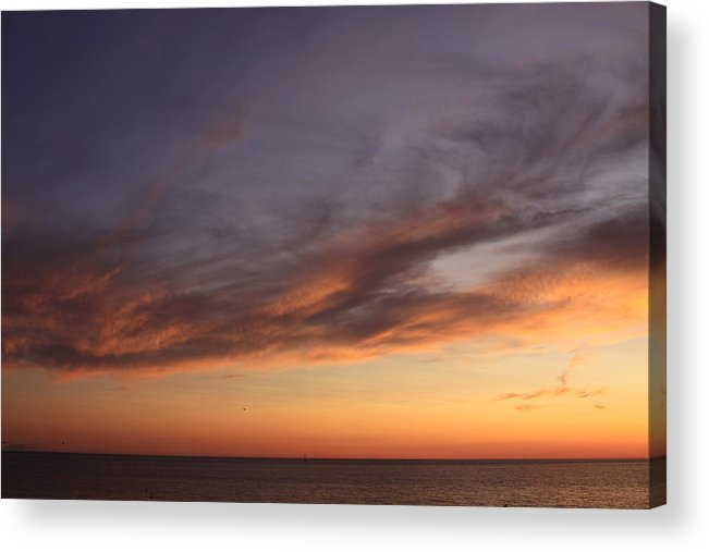Sunset Acrylic Print featuring the photograph Orange Sunset by Chuck Bailey