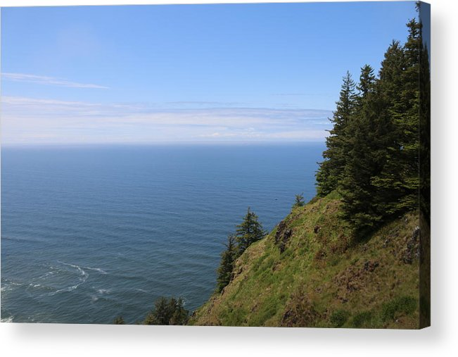 Oregon Coast Acrylic Print featuring the photograph Oregon Ocean View - 4 by Christy Pooschke