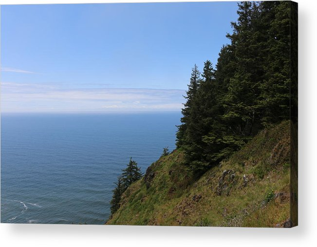 Oregon Coast Acrylic Print featuring the photograph Oregon Ocean View - 5 by Christy Pooschke