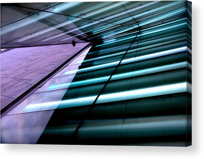 Abstract Acrylic Print featuring the photograph Oslo Opera House Norway 211 by Per Lidvall