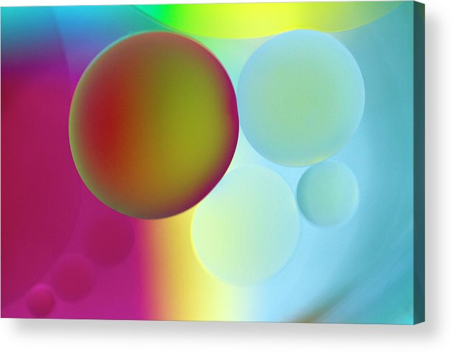 Oil Acrylic Print featuring the photograph Other Worlds by Rebecca Cozart