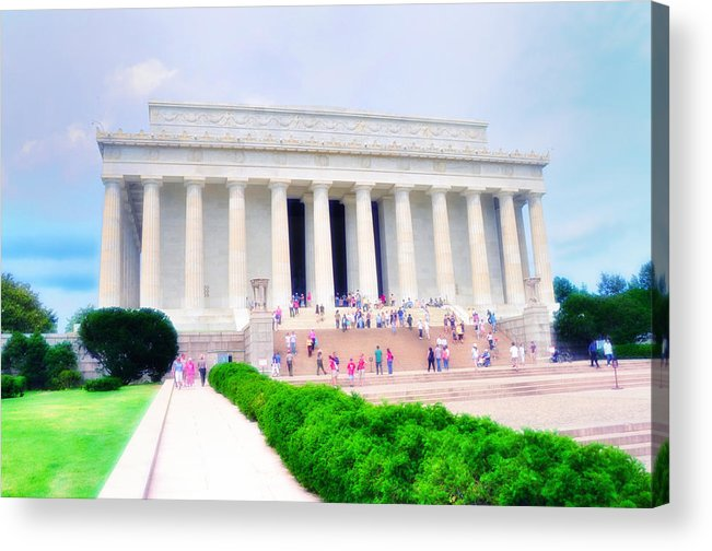 Lincoln Acrylic Print featuring the photograph Outside The Lincoln Memorial by Bill Cannon