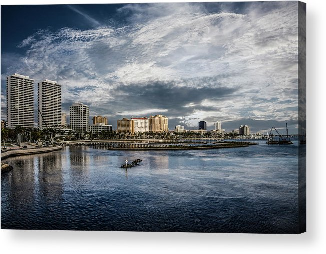 Boats Acrylic Print featuring the photograph Overlooking West Palm Beach by Debra and Dave Vanderlaan
